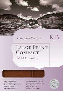 KJV Cornerstone Large Print Compact Chesnut Flap (Red Letter Edition)