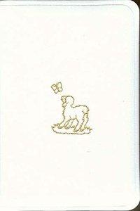 KJV Babys Illustrated White Bible Velva