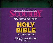 KJV Scourby New Testament on CD Black Zipper Pack