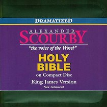 KJV Scourby New Testament on CD Dramatized Black Zipper Pack
