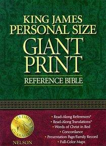 KJV Giant Print Personal Size Burgundy