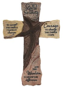 Wall Cross: Serenity Prayer (Polyresin)