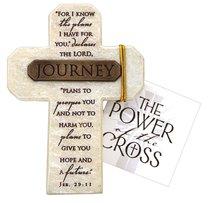 Tabletop Cross: Journey Jeremiah 29:11 (Polyresin)