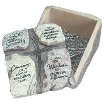 Keepsake Box With Lid: Serenity Prayer (Polyresin)