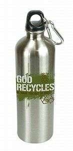 Water Bottle 750ml Stainless Steel: God Recycles