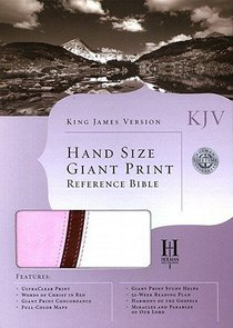 KJV Large Print Personal Size Reference Bible Pink/Brown/White