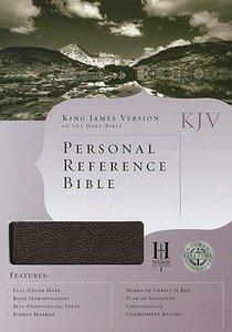 KJV Personal Reference Bible Burgundy