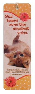 Bookmark With Tassel: God Hears Even the Smallest Voice