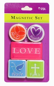 Magnetic Set of 5 Magnets: Love