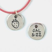 Symbols of Faith Pendant: Fruit Galatians 5:22