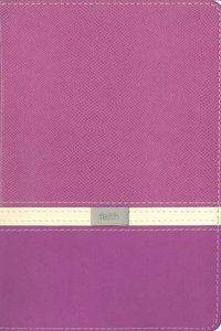 KJV Compact Reference Orchid/Butter Creme Italian Duo-Tone (Red Letter Edition)