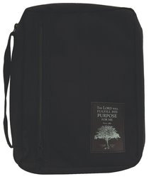 Bible Cover Black Nylon With Purpose Driven Life Patch Extra Large