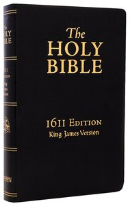 KJV Holy Bible 1611 Edition Black Includes Apocrypha