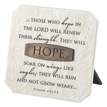 Plaque: Hope (Polyresin)