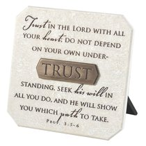 Plaque: Trust (Polyresin)