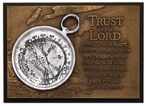 Small Moments of Faith Plaque the Compass Trust in the Lord