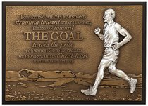 Small Moments of Faith Plaque the Goal Runner