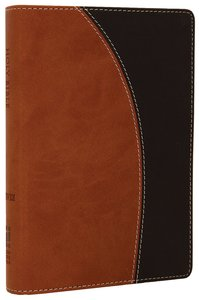 NIV Compact Thinline Bible Tan/Black Duo-Tone (Red Letter Edition)
