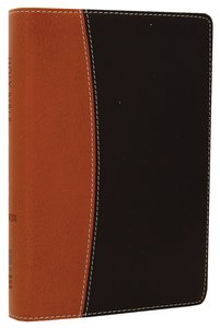 NIV Compact Thinline Reference Tan/Black Duo-Tone (Red Letter Edition)