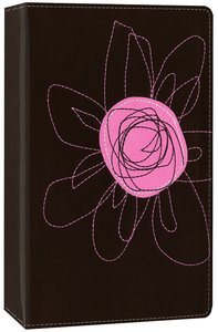 NIV Student Bible Compact Espresso/Pink Flower Italian Duo-Tone