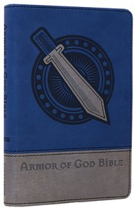 NIV Armor of God Backpack Bible Silver/Blue (Red Letter Edition)