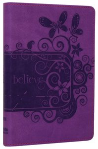NIV Backpack Bible Pizzaz Purple Duo-Tone (Red Letter Edition)