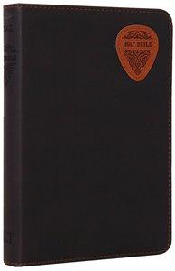 NLT Compact Bible Brown/Tan Guitar Pick (Black Letter Edition)