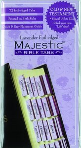 Majestic Bible Tabs Lavender Foil Edged