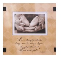 Be Encouraged Easeled Glass Art: Love Always Protects