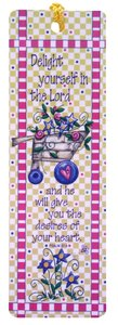 Tassel Bookmark: Delight Yourself in the Lord