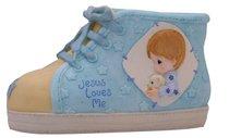 Precious Moments Shoe Money Box: Boy, Jesus Loves Me