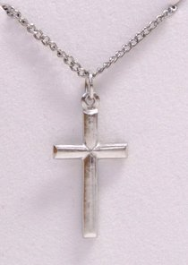 Pendant: Cross Rounded (Pewter)