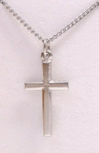 Pendant: Cross Outline Small (Pewter)
