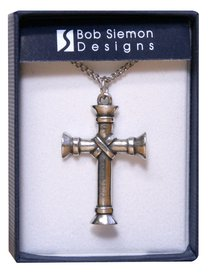 Pendant: Cross Wrapped Pillar (Pewter)
