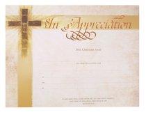 Certificate: Appreciation Bronze-Foil Embossing (Matthew 16:24)