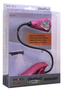 Ultraflex3 Booklight With 3 Super Leds Pink