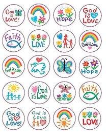 Sticker Pack: Faith Kid-Drawn