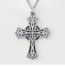 Pendant: Flat Triquetra Cross (Pewter)