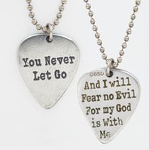 Pendant: Songs of Worship: You Never Let Go (Lead-free Pewter)