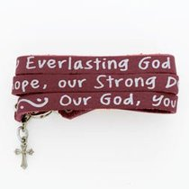Bracelet: Songs of Worship: Everlasting God (Leather Wrap)