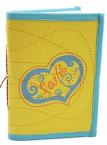 Small Journal Faith Yellow/Blue (Empowering The Poor Series)