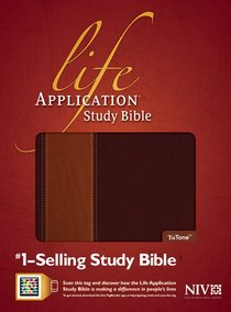 NIV Life Application Study Bible Brown/Tan Indexed (Red Letter Edition)