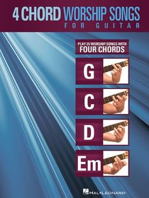 4 Chord Worship Songs For Guitar (Music Book)