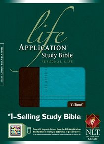 NLT Life Application Study Bible Personal Size Darl Brown/Teal (Black Letter Edition)