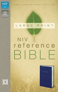 NIV Large Print Reference Bible Navy Leather Look (Red Letter Edition)