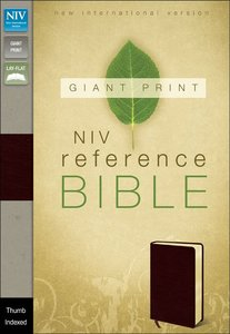 NIV Giant Print Reference Bible Burgundy Indexed (Red Letter Edition)