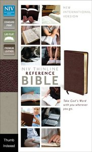 NIV Thinline Reference Bible Burgundy Indexed (Red Letter Edition)