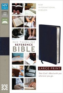 NIV Large Print Thinline Reference Bible Navy Indexed (Red Letter Edition)