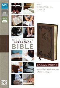 NIV Thinline Reference Large Print Brown Duo-Tone (Red Letter Edition)