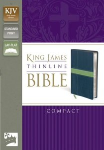 KJV Thinline Compact Midnight Blue/Moss Green (Red Letter Edition)